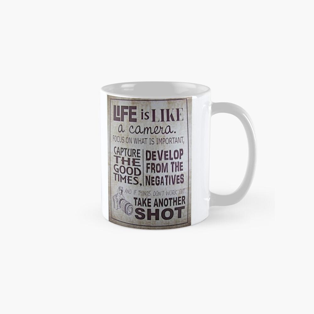 """""""Das Leben ist wie eine Kamera"""" Tasse"""