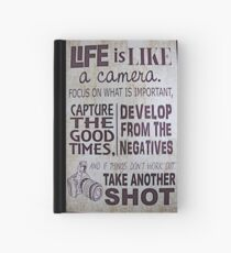 """""""Life Is Like a Camera"""" Hardcover Journal"""