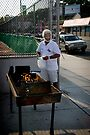 Barbecue on South Orange Ave, Newark by Yuri Lev