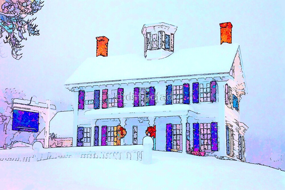 New England Winter Scene by Ron Risman