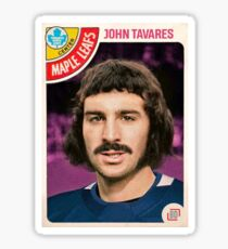 John Tavares Maple Leafs 1970s Hockey Card Sticker