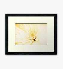 Grungy Golden Framed Print