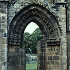 Door of South Transept C14 C15 Cathedral Elgin Scotland 19840916 0024 by Fred Mitchell