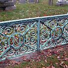 Ornate Metal Filigree Fence and Gate, Newman Plot, Sleepy Hollow Cemetery by Jane Neill-Hancock