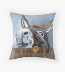 A Donkey called Daisy Throw Pillow