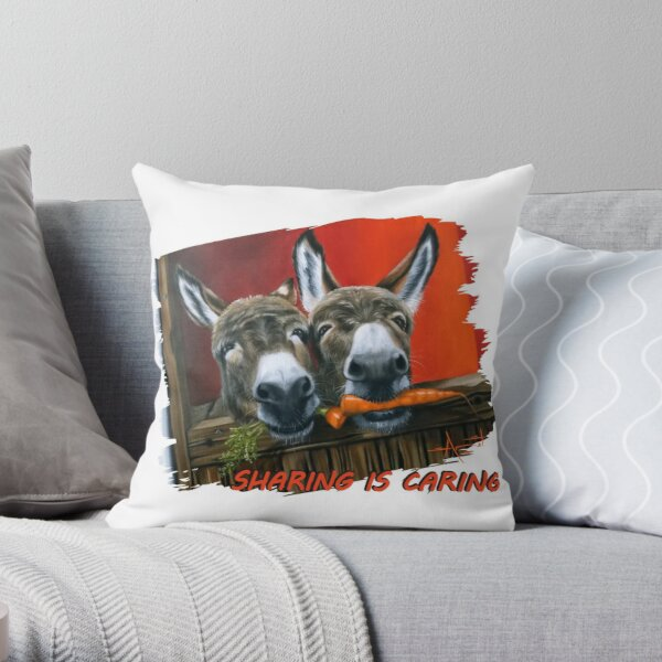 Sharing is Caring! Throw Pillow