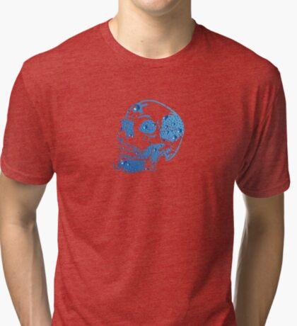 Bluebubble Skull Tri-blend T-Shirt
