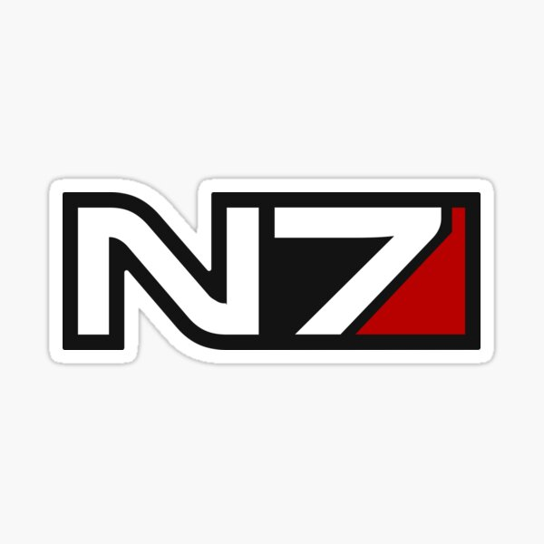 N7 emblem, Mass Effect Sticker