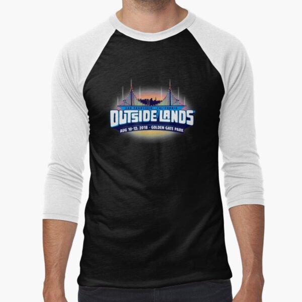 OUTSIDE Festival 2018 music LANDS ter badai Baseball ¾ Sleeve T-Shirt