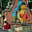 Swayambunath by Harry Oldmeadow