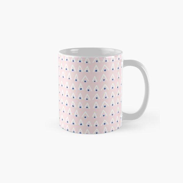 Triangle and dot stripe design on a soft pink base Classic Mug