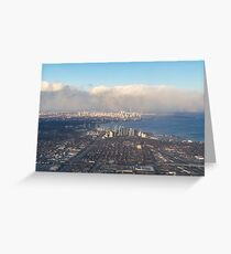 On Approach - Flying Over Toronto Greeting Card