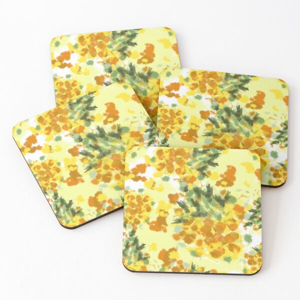 Pineapples Explosion #redbubble #pineapples Coasters (Set of 4)