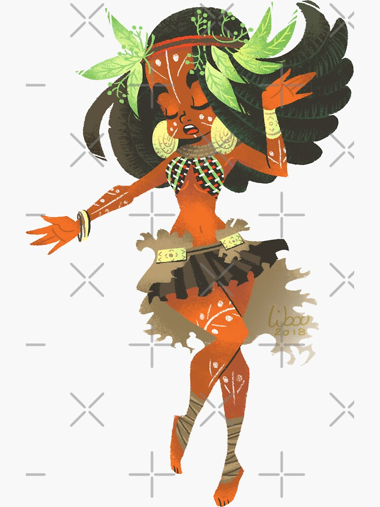 «Africaine danseuse princesse» par Libou