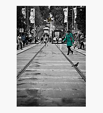 Bourke Street in Yellow Green & Blue Photographic Print