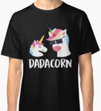 Dadacorn Unicorn Dad und Baby Vatertag T-Shirt Classic T-Shirt