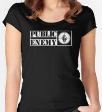 public enemy Women's Fitted Scoop T-Shirt