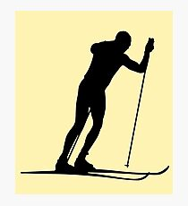 Cross country ski Photographic Print