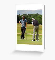Pro Am Golfers Greeting Card