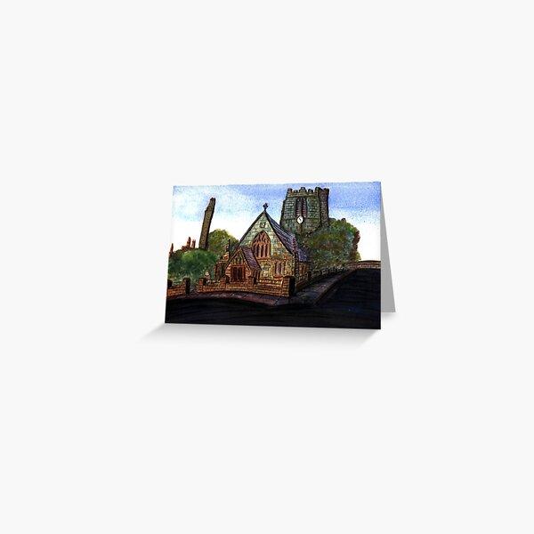 172 - SAINT CUTHBERT'S CHURCH, BLYTH - DAVE EDWARDS - WATERCOLOUR - 2007 Greeting Card