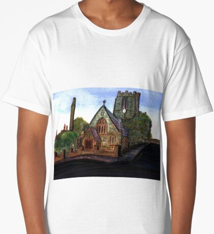 172 - SAINT CUTHBERT'S CHURCH, BLYTH - DAVE EDWARDS - WATERCOLOUR - 2007 Long T-Shirt
