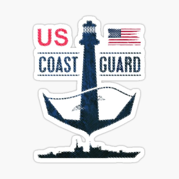 4x4 inch Round United States Coast Guard Academy Seal Sticker USCG Logo
