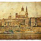 Forgotten Postcard - Valletta, Malta by Alison Cornford-Matheson
