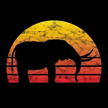 Mammoth Mammoths Elephant Elephants Retro Vintage Gift by ninarts