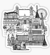 London toile black white Sticker