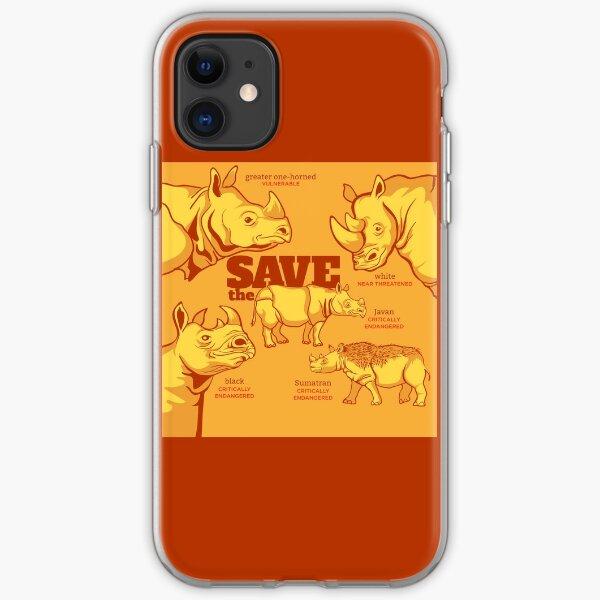 Save the Rhino iPhone Soft Case