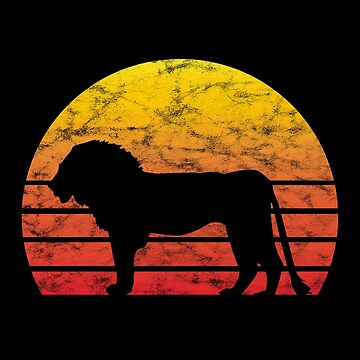 Lion Lions Africa Safari Tour Trip Retro Used Gift by ninarts
