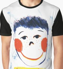 Face smiling drawing, funny pattern, design for kids Graphic T-Shirt