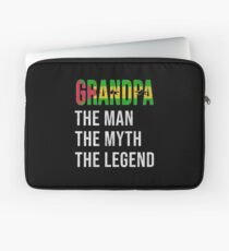 Sao Tomean Grandpa The Man The Myth The Legend, Gift For Sao Tomean Granddad From  Sao Tome And Principe -  Sao Tome And Principe Flag in Grandpa Laptop Sleeve
