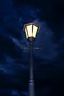 Lamp Pole on a Dark Gloomy Night  by RatManDude