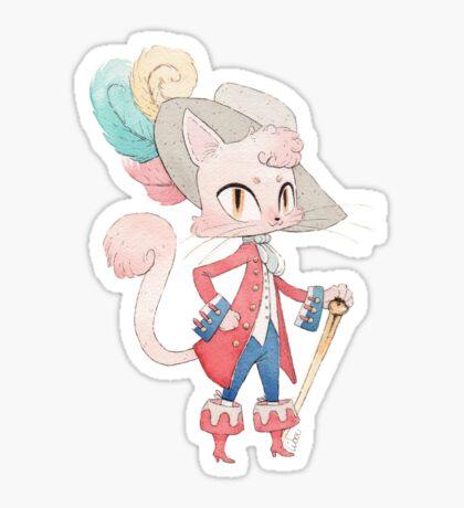 Chat botté dessin Sticker