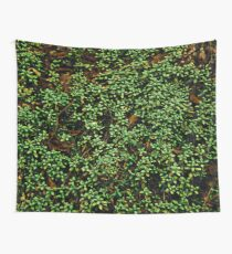 Texture vines with brick wall red bricks climbing green jungle vines and wild plants vintage eroded grunge style urban pattern Wall Tapestry