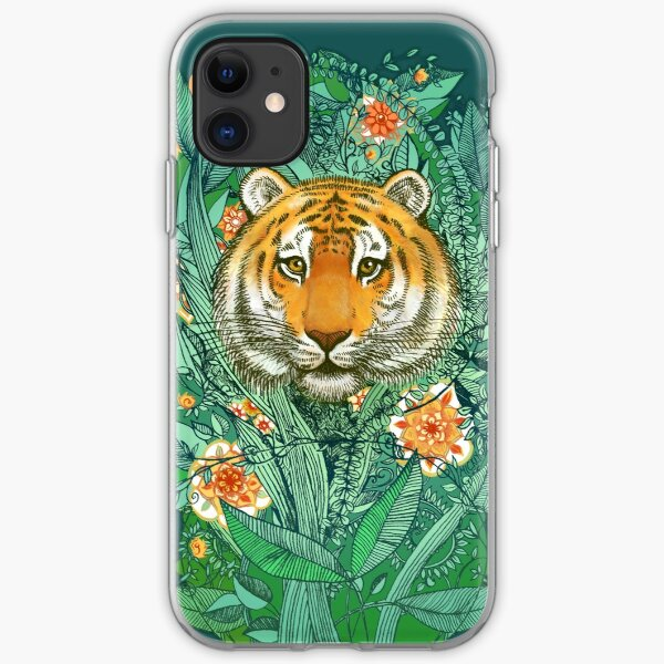 Tiger Tangle in Color iPhone Soft Case