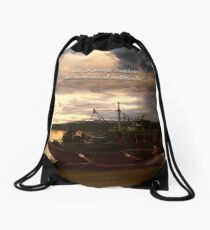 boundaries Drawstring Bag