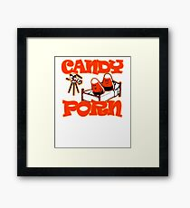 Candy porn popcorn porn cinema Framed Print