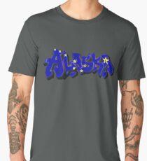 Alaska Flag Graffiti (Graffiti Muscle) Men's Premium T-Shirt