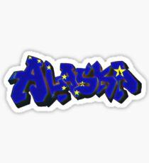 Alaska Flag Graffiti (Graffiti Muscle) Sticker