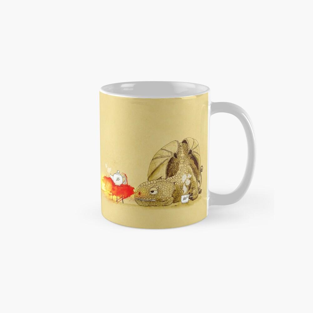 Drache macht Tee Tassen