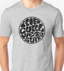 Rip Curl Wet Suits Black Unisex T-Shirt