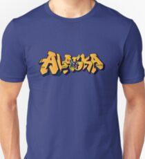 Alaska License Plate (Alaska Flag) by Graffiti Muscle Unisex T-Shirt