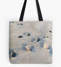 Pebbles on the sand Tote Bag