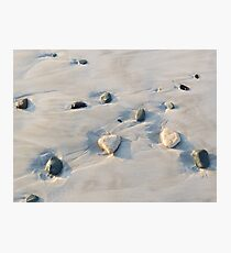 Pebbles on the sand Photographic Print