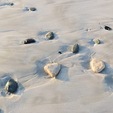 Pebbles on the sand by Happyart