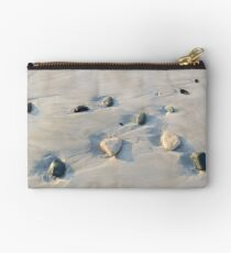 Pebbles on the sand Studio Pouch