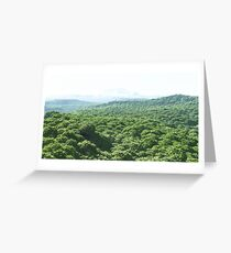 Les dix collines  Greeting Card