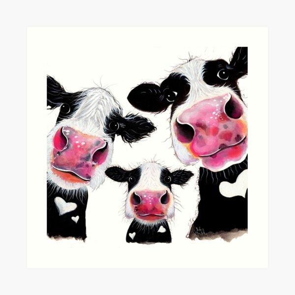 CoW PRiNT, ANiMaL PRiNT ' THe NoSeY FaMiLY ' BY SHiRLeY MacARTHuR Art Print